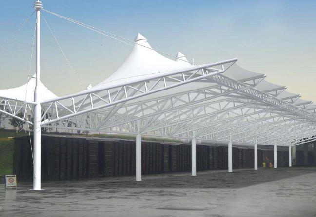 膜结构雨棚厂家为大家揭秘原来这是膜结构做的
