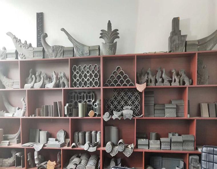 古建材料展览区