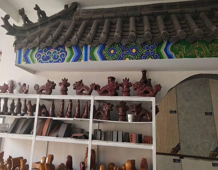 古建配件展览区
