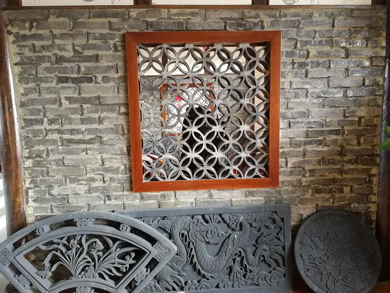 墙面装饰筒瓦
