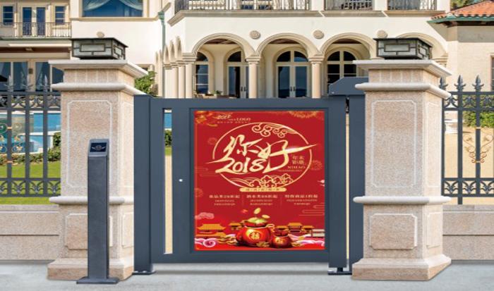 云南小区广告门安装