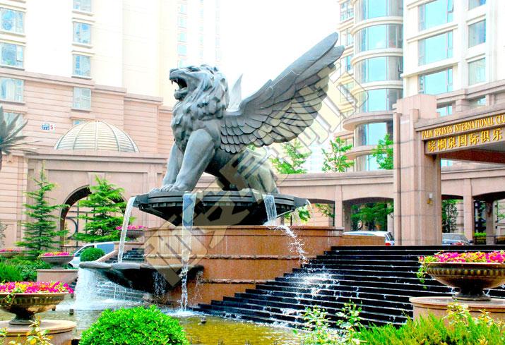 清华大学飞狮铸铜雕塑