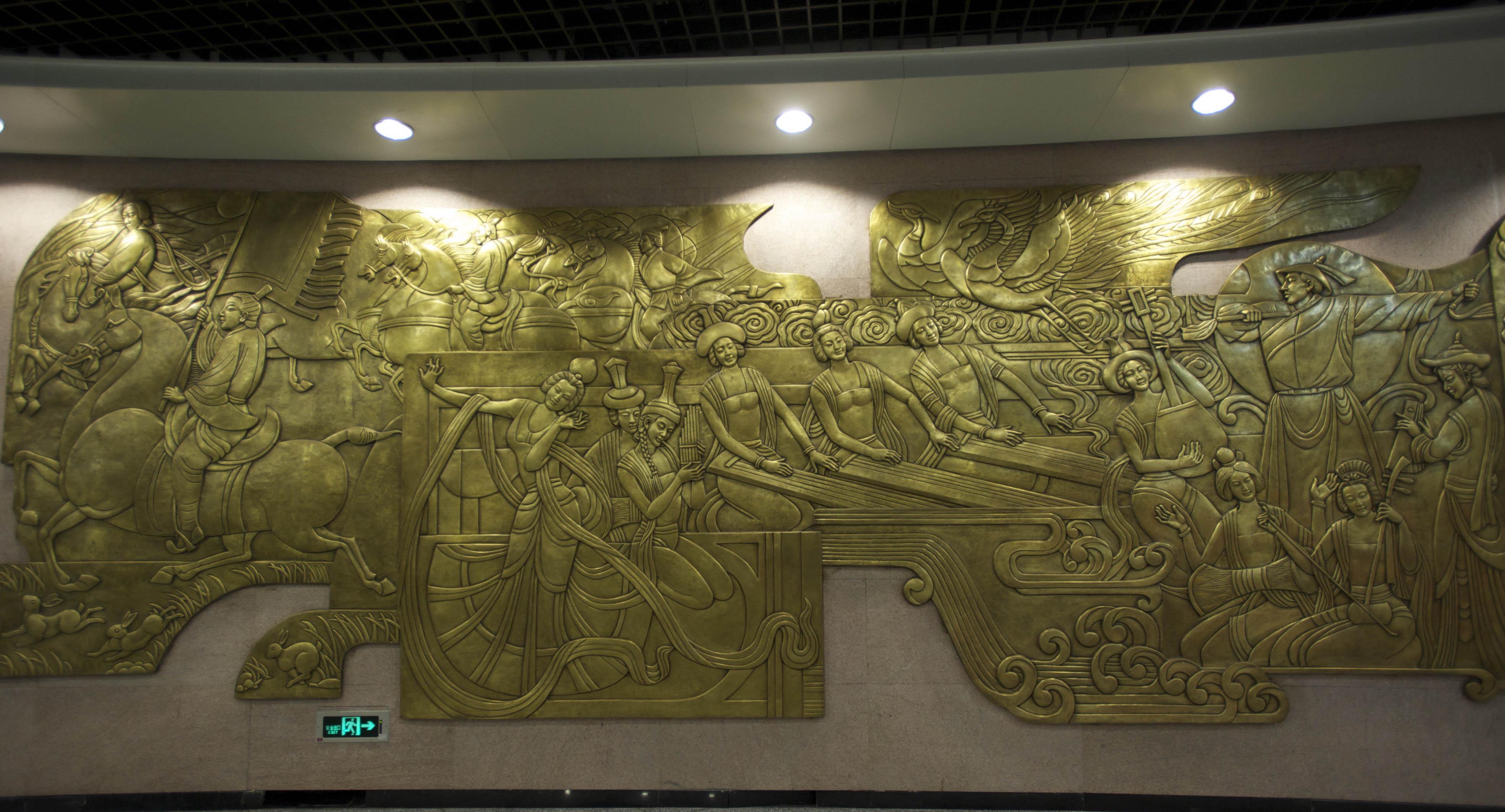北京顺义地铁站墙体壁画制作