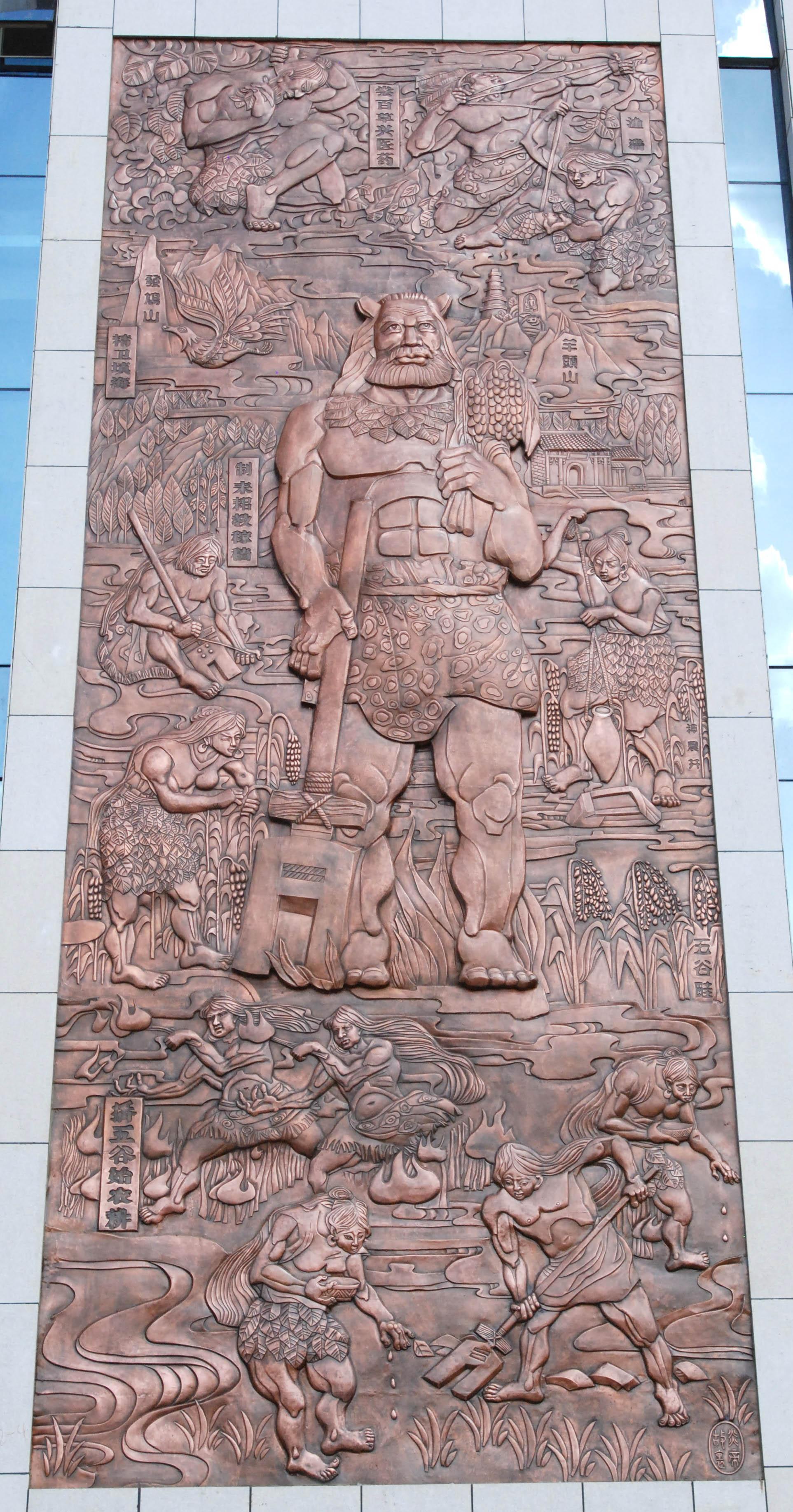 山西省高平市文化中心壁画制作