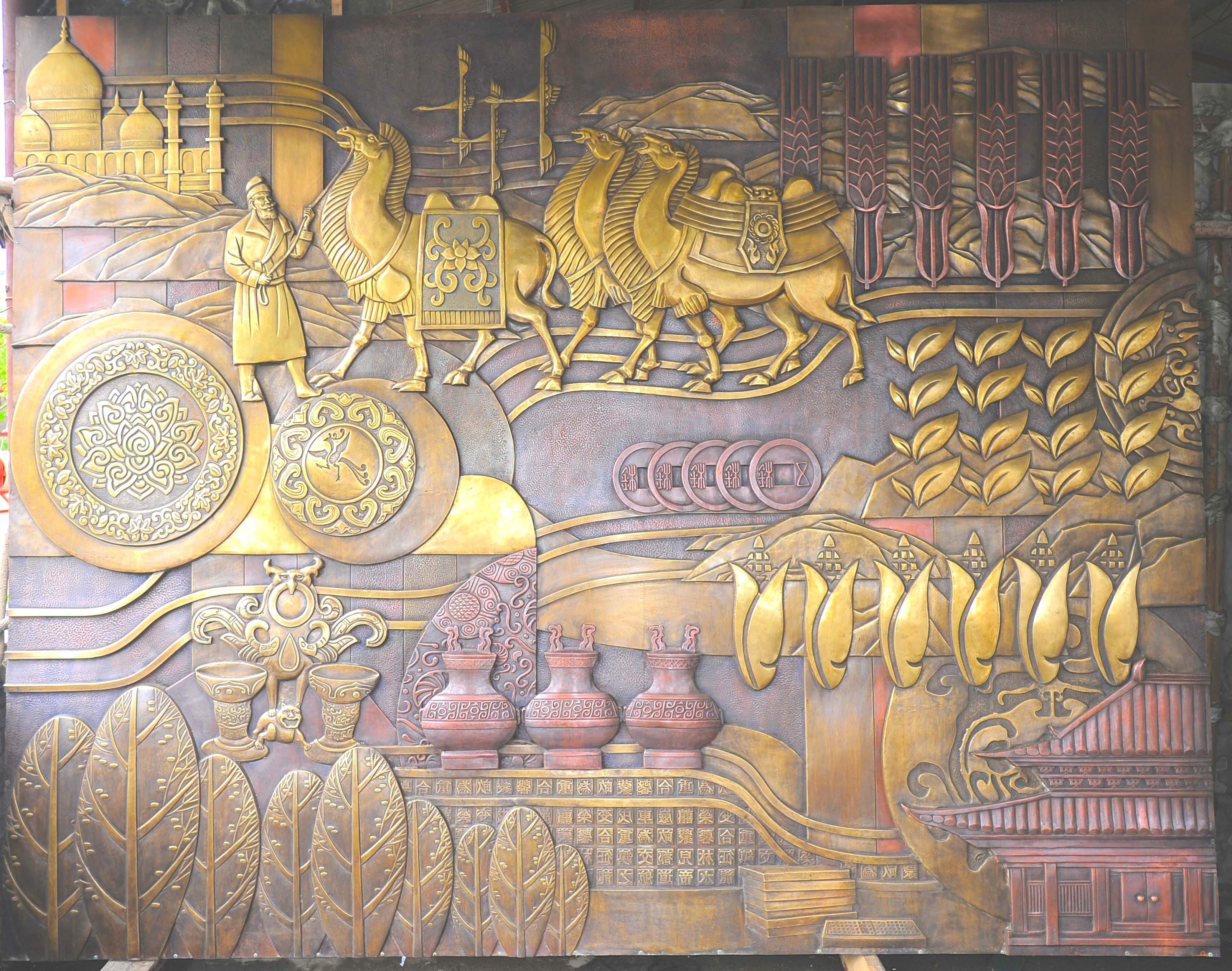 丝路辰光雕塑壁画