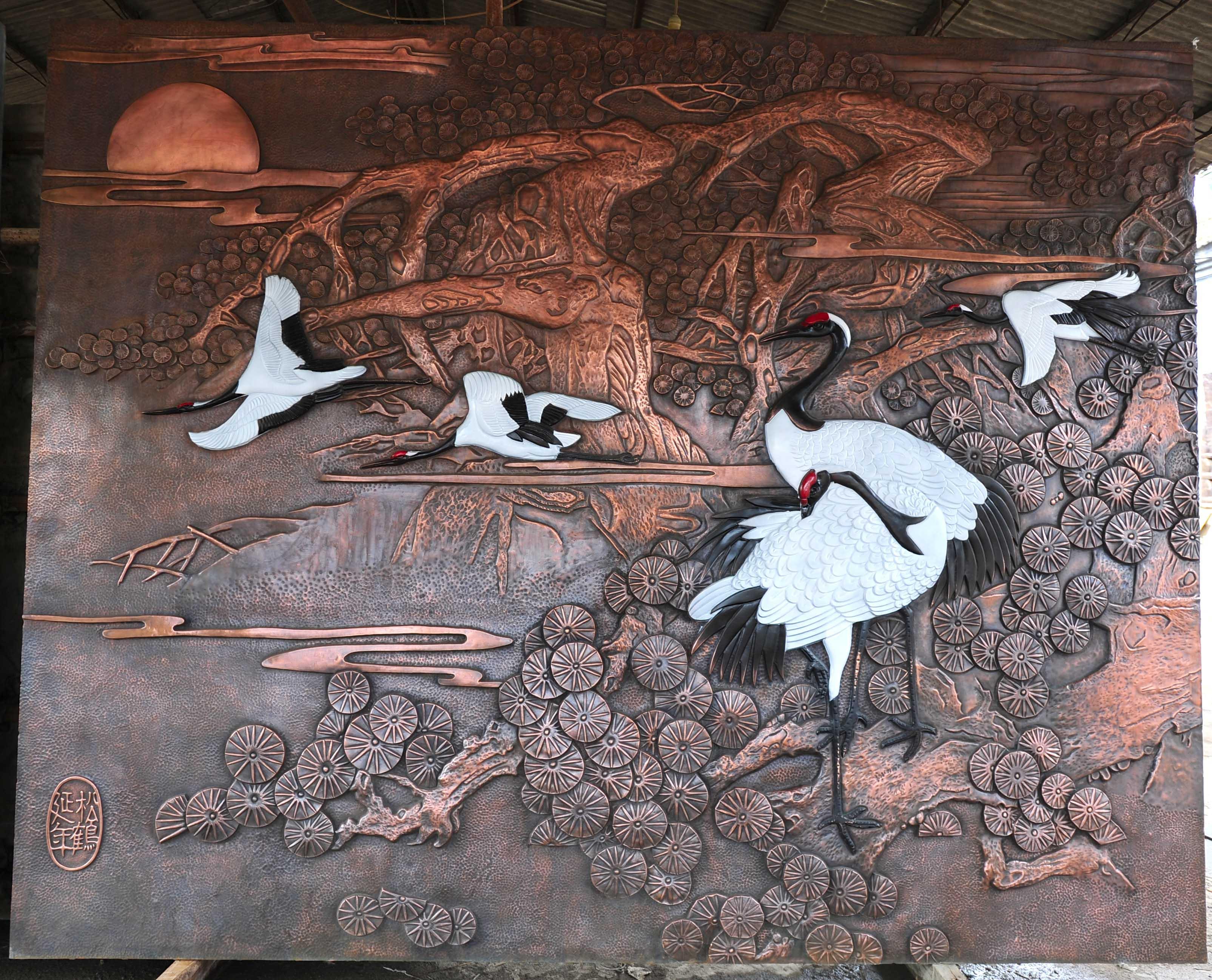 陕西省西安市地铁一号线雕塑