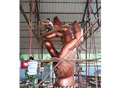 景观雕塑施工现场