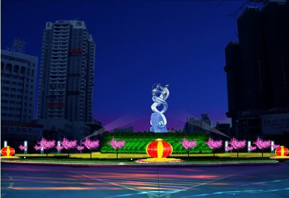 春节街道照明