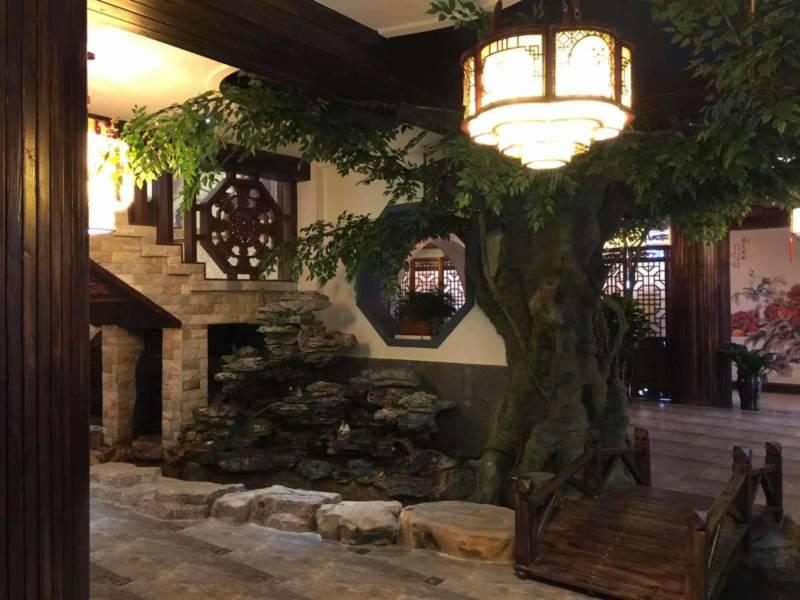 酒店英石假山