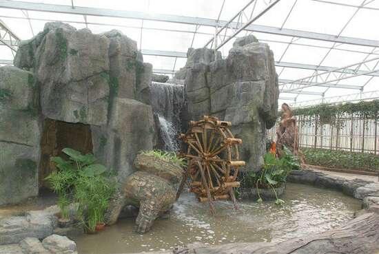 生态园塑石景观