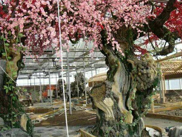 水泥雕刻仿真树