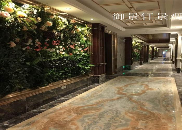 景观酒店区绿植墙