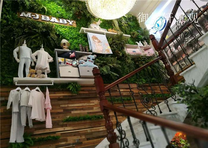 楼梯绿植墙