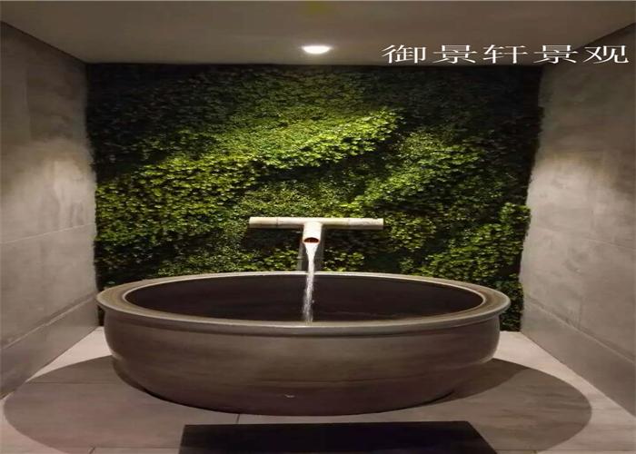 温泉绿植墙