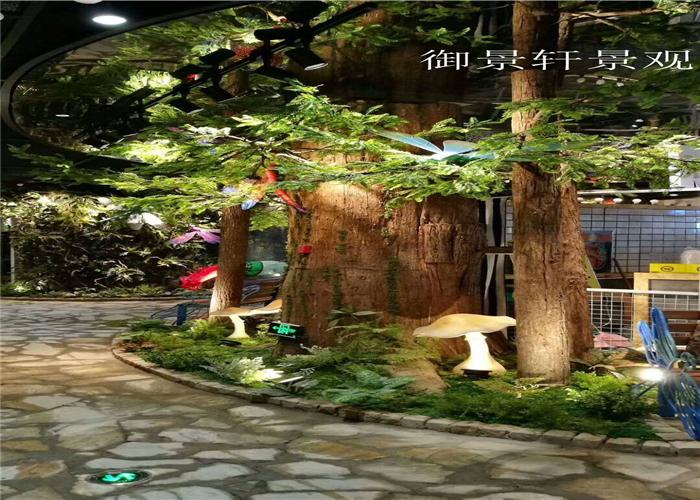 室内景观展区绿植墙