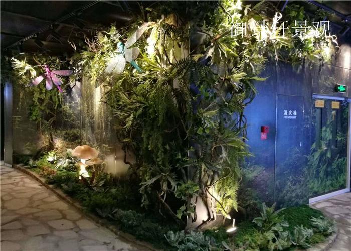物品装饰绿植墙