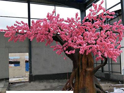 室内桃花树