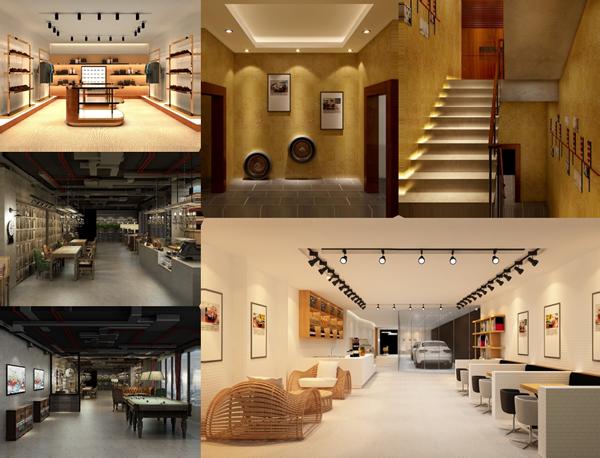 室內設計案例:設計各個類型室內外設計方案以及后期制作