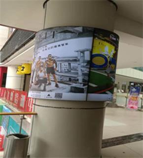 圓柱卡布軟膜燈箱廣告
