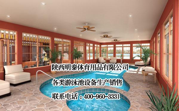 游泳馆泳池设备加热消毒水处理一体化完成