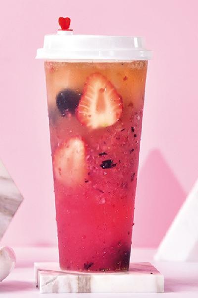 草莓黑樱茶啤