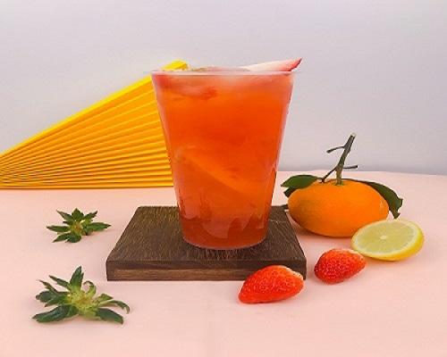 草莓控必戳!草莓橙茉波波茶,用吃货方式迎接草莓季