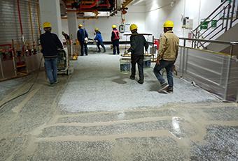 水磨石打磨施工