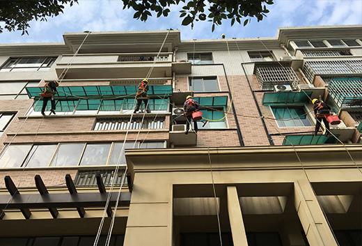 芙蓉公寓外墙清洗项目