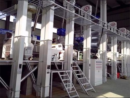 安徽日产60吨大米加工成套设备安装调试