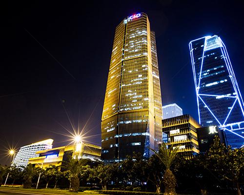 建發大廈戶外亮化照明