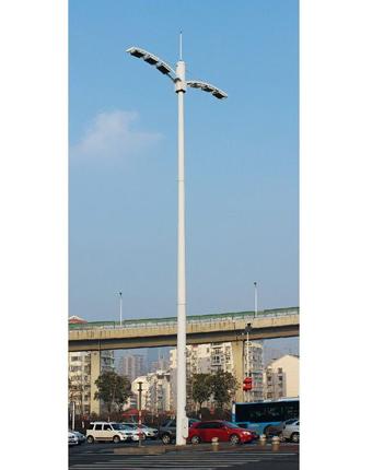 銀川城市雙臂道路燈光