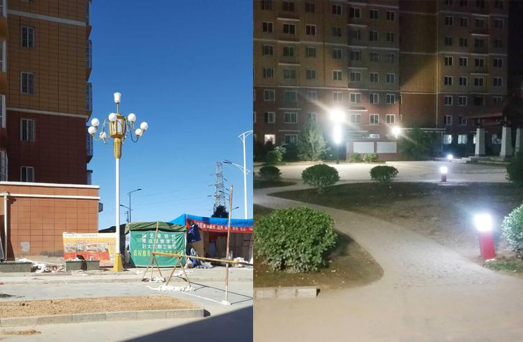 延安市宝塔区雅荷小区中华灯亮化项目