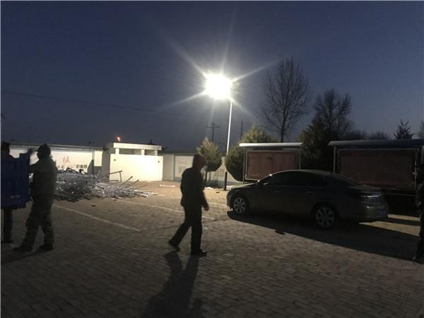 榆林市靖邊縣龍洲鎮新農村太陽能亮化