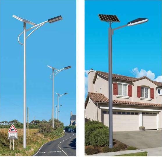 西安太陽能路燈燈桿