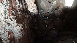 臺北自來水管道側漏