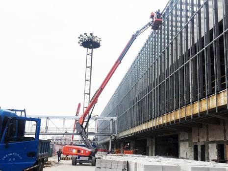 曲臂式高空作业租赁汽车站改造