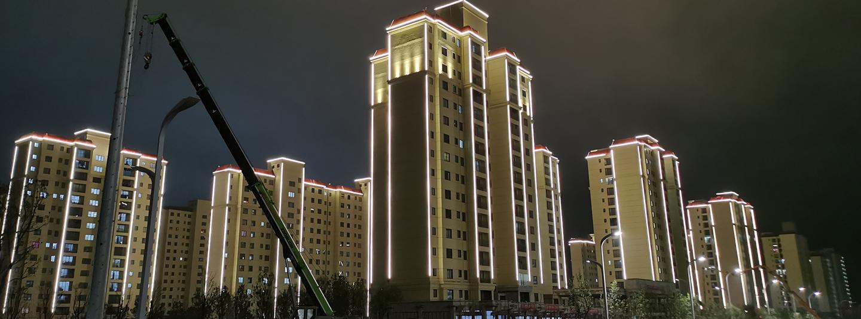 昭通市靖安新區安置房樓宇亮化