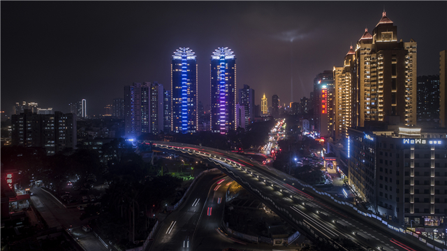 光影艺术,点亮一座城市的天际线