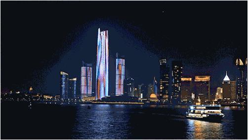 全国最大单体建筑灯光秀闪耀青岛浮山湾