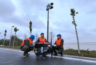 國網支援鄭州黃河大堤緊急照明工程