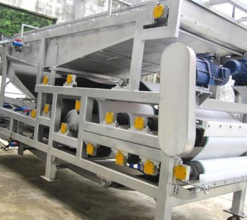 带式污泥脱水设备的主要工作原理