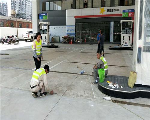 加油站道路划标划线施工工艺