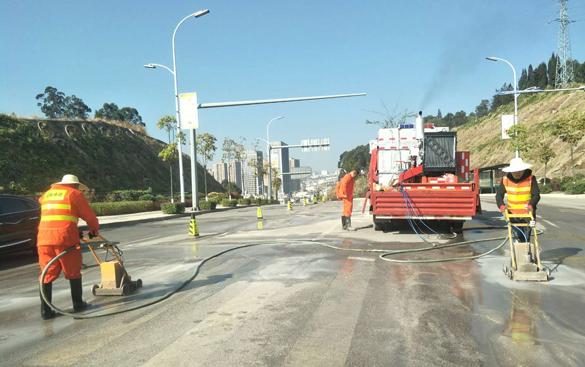 云南道路除线施工