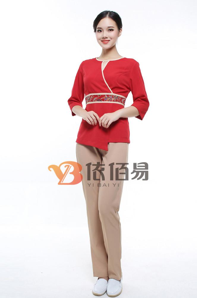 中式洗浴部工作服