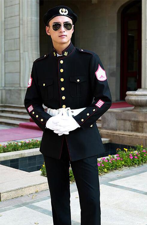 酒店保安立领制服