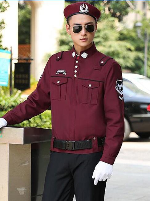 酒店保安制服套装定制