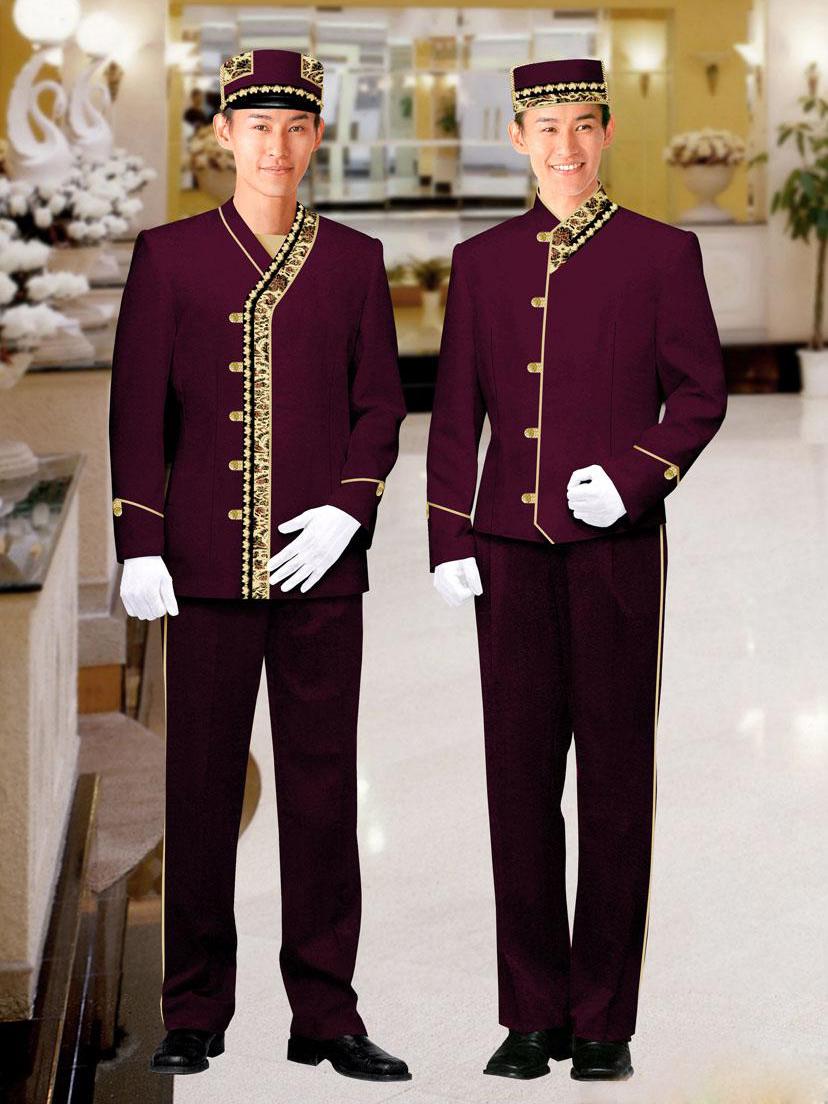 中式酒店迎宾门童服装