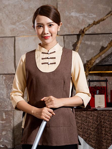 中式客房保洁服