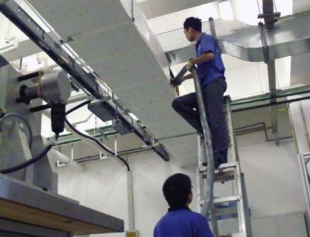 风管中央空调机安装调试