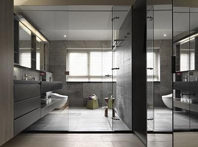 卫生间玻璃高隔间
